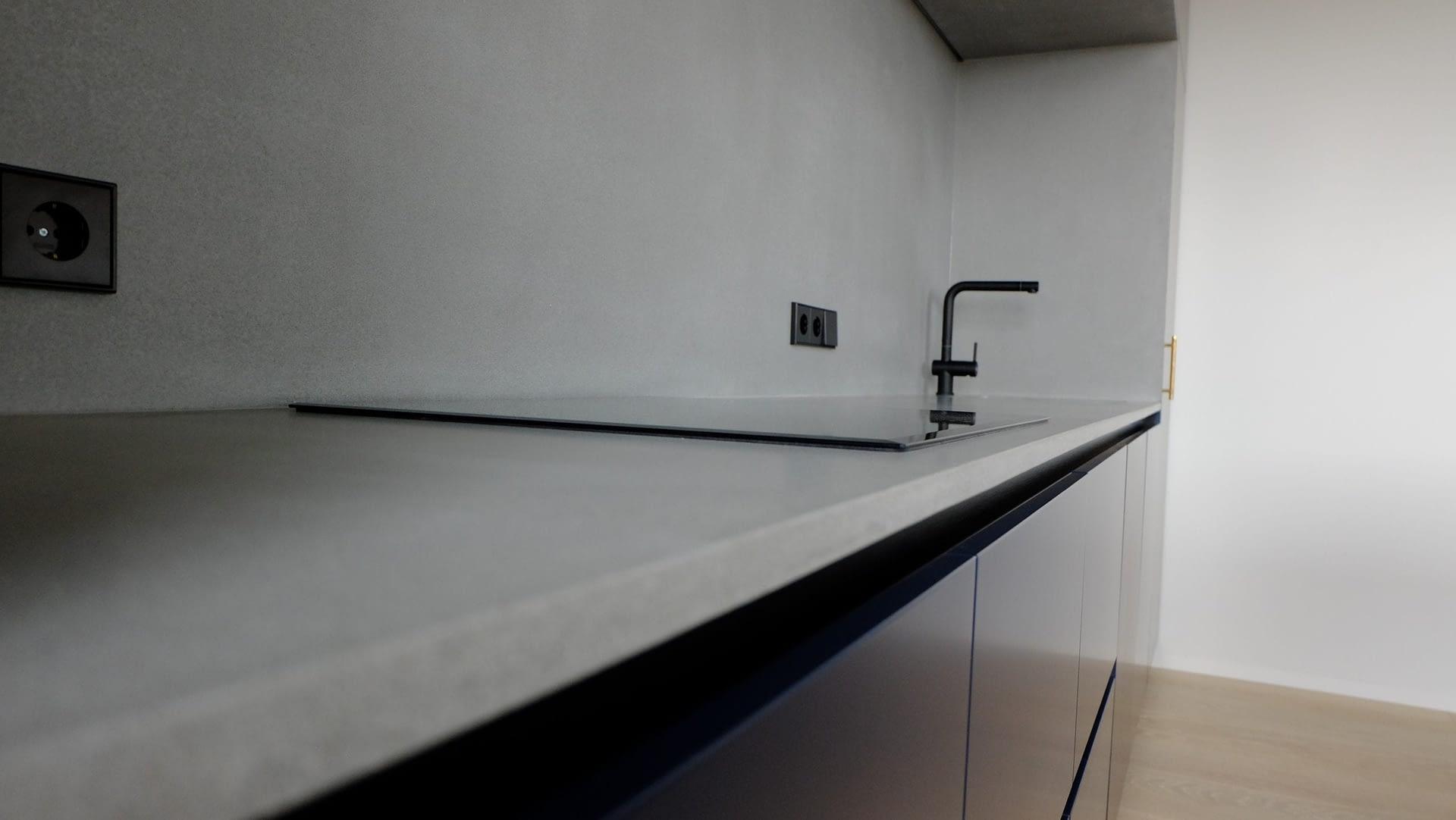 betonas virtuve