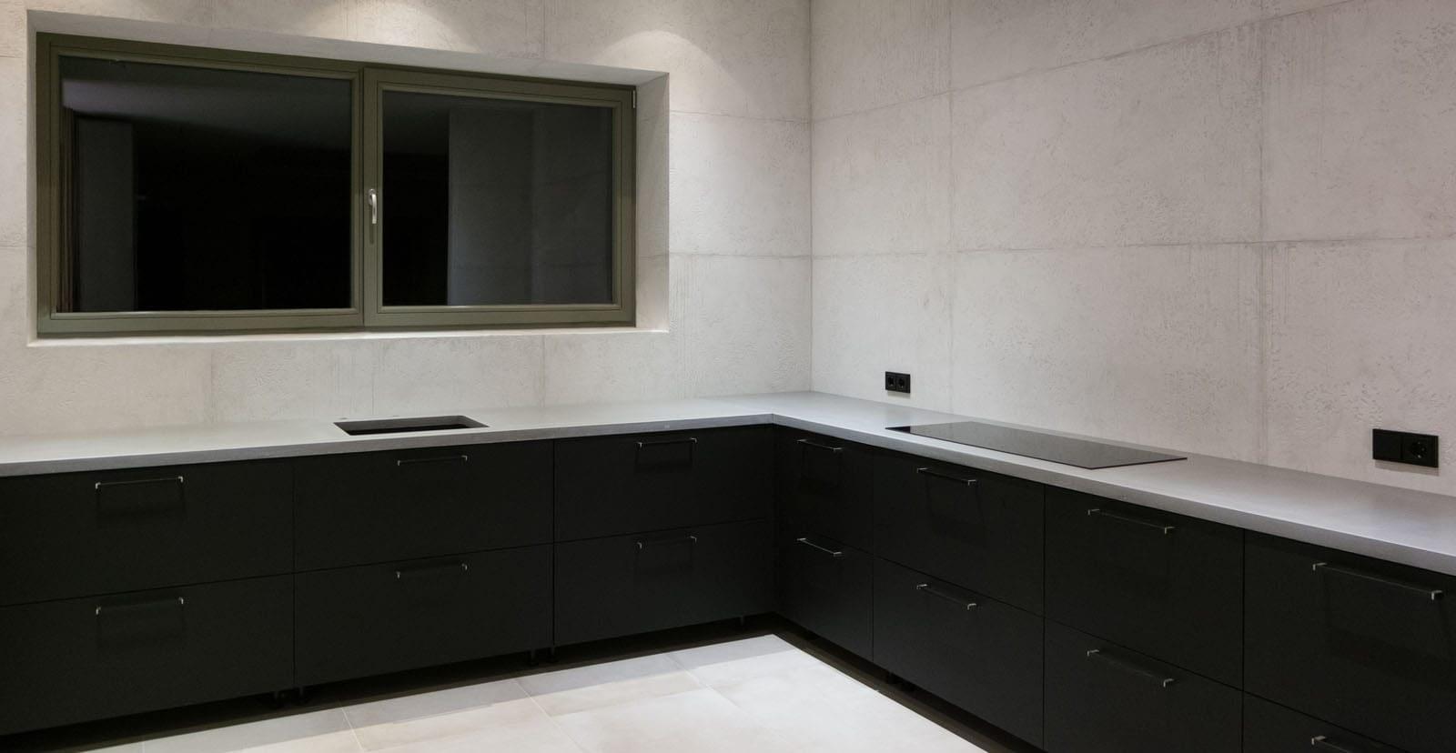 betoninis virtuvės stalviršis